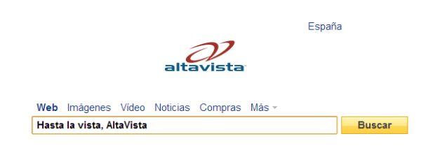 AltaVista, bland de 12 tjänster som Yahoo stänger under de kommande veckorna