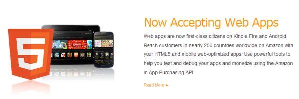 Amazon Appstore accepterar nu HTML5-webbappar