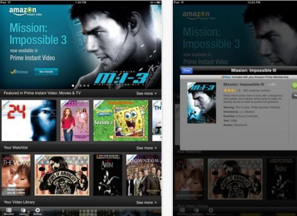 Amazon Instant Video, den nya iPad-appen med direkt tillgång till filmer och TV-program