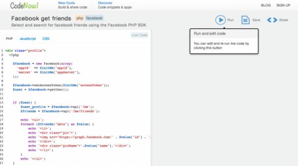 CodeNow!  - programmera och köra koder i realtid från webbläsaren