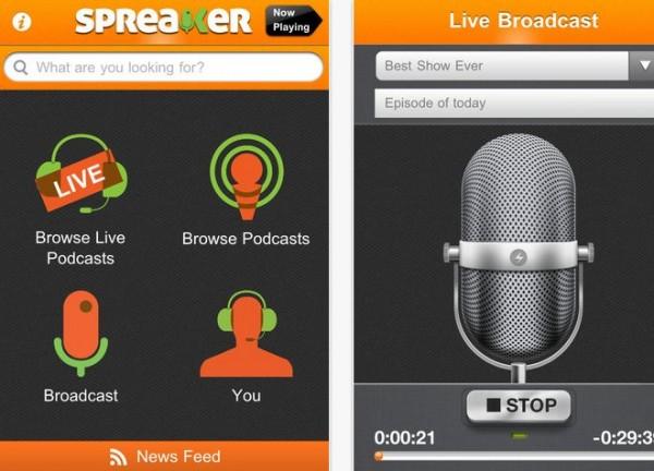 De nya funktionerna i Spreaker för iPhone