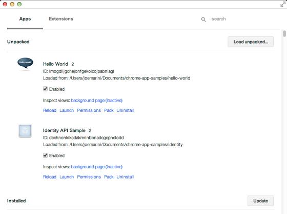 Chrome Apps Developer också