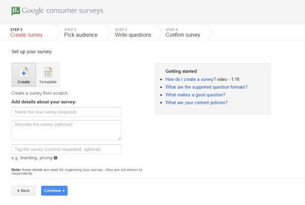 Google lanserar Google Consumer Survey för marknadsanalys