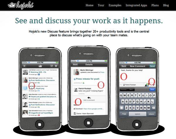 Hojoki Discuss, den nya sociala funktionaliteten som möjliggör diskussion om uppdateringar