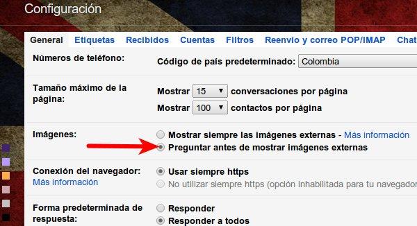gmail mostrar bilder recibidas