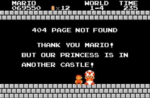 mario bros 404 sida