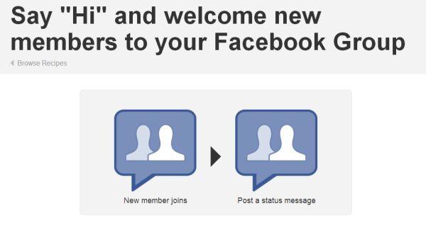 IFTTT ger oss kanalen för Facebook-grupperna för att automatisera vissa publikationer