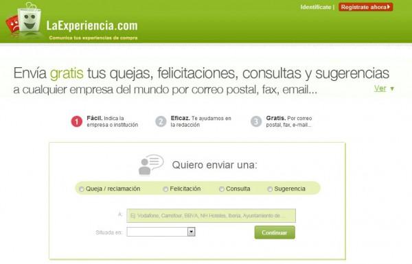 LaExperiencia.com - Skicka klagomål, förfrågningar och gratulationer till företag via webb och mobil