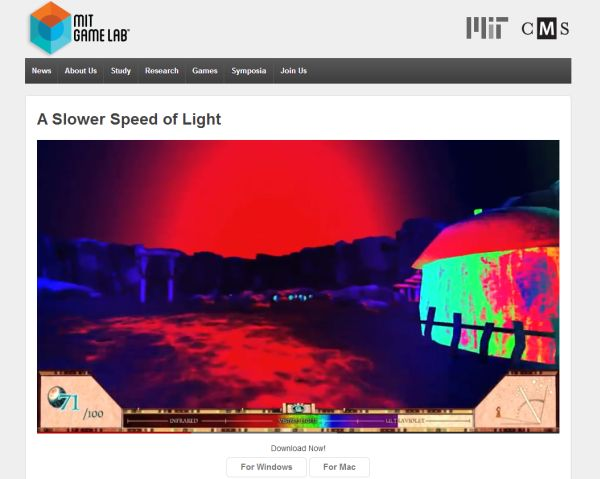 MIT Launches Slower Speed ​​of Light, an Open Source Game That Brings Science to Entertainment