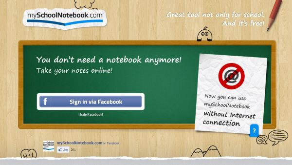 My School Notebook - take class notes with your electronic device