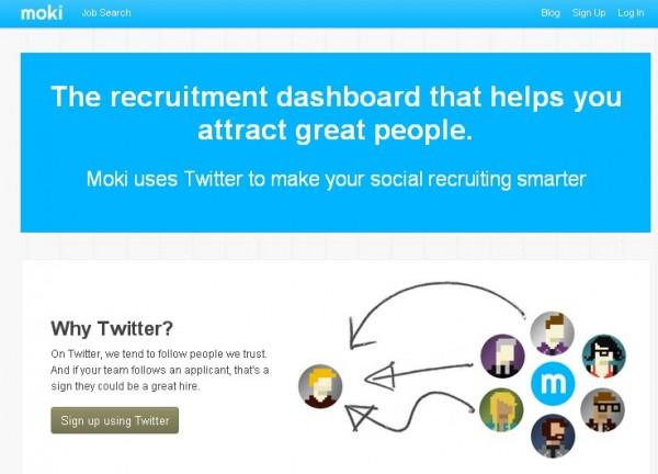 Moki, rekrytera och anställa arbetare till ditt team via Twitter
