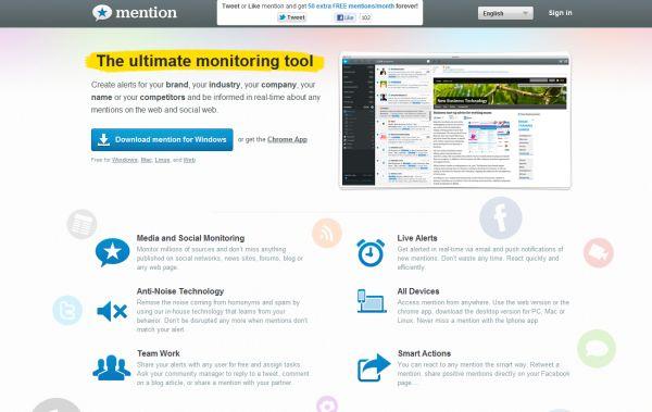 Nämn - nyckelord nämner övervakningsverktyg på webbplatser