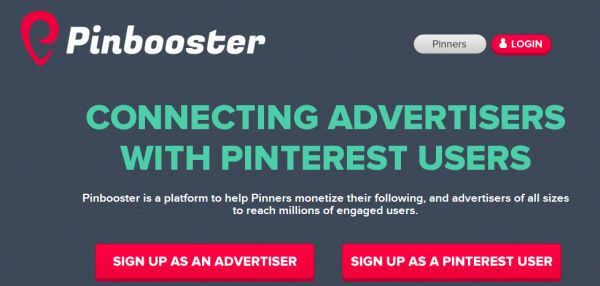 Pinbooster - first pay-per-pin advertising platform for Pinterest