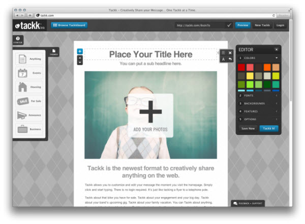 Tackk, a simple way to create and publish content online