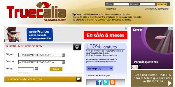 Truecalia, återförsäljning av tågbiljetter mellan individer