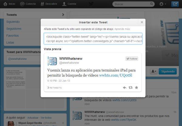 Integracin de Tweets