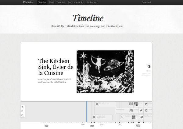 Verite Timeline - lägg till en interaktiv tidslinje på din webbplats