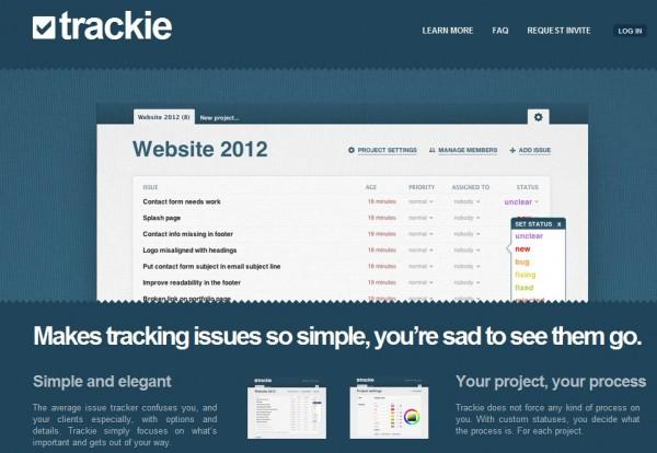 Vi testade trackie, det nya problemhanteringssystemet för programmering av projekt