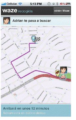 Waze presenterar sin nya version för att veta var kontakterna befinner sig i realtid