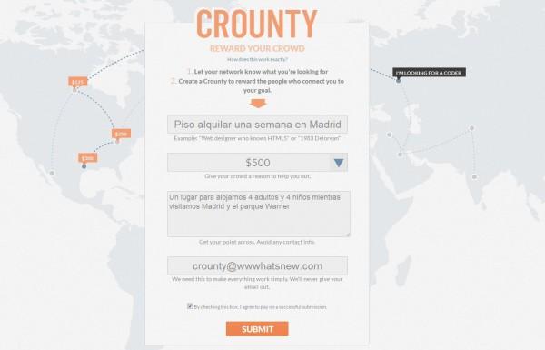 crounty - Betala dina kontakter för att hjälpa dig att hitta det du letar efter