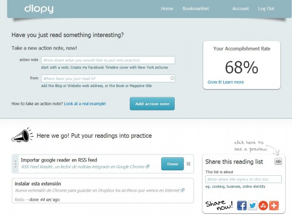 dlopy - Omvandla webbadresser du besöker till väntande uppgifter