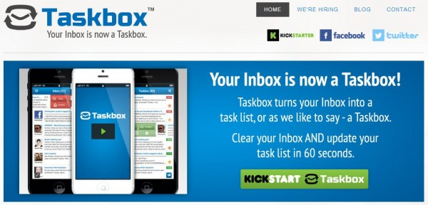 taskbox, transform your email list into a task list